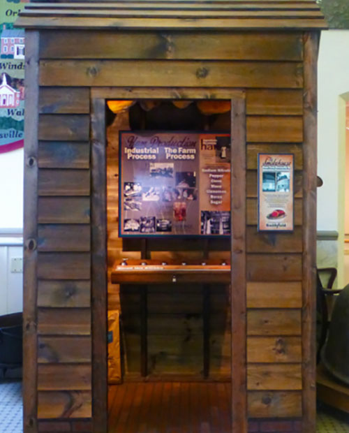 Smokehouse exhibit at the Isle of Wight County Museum