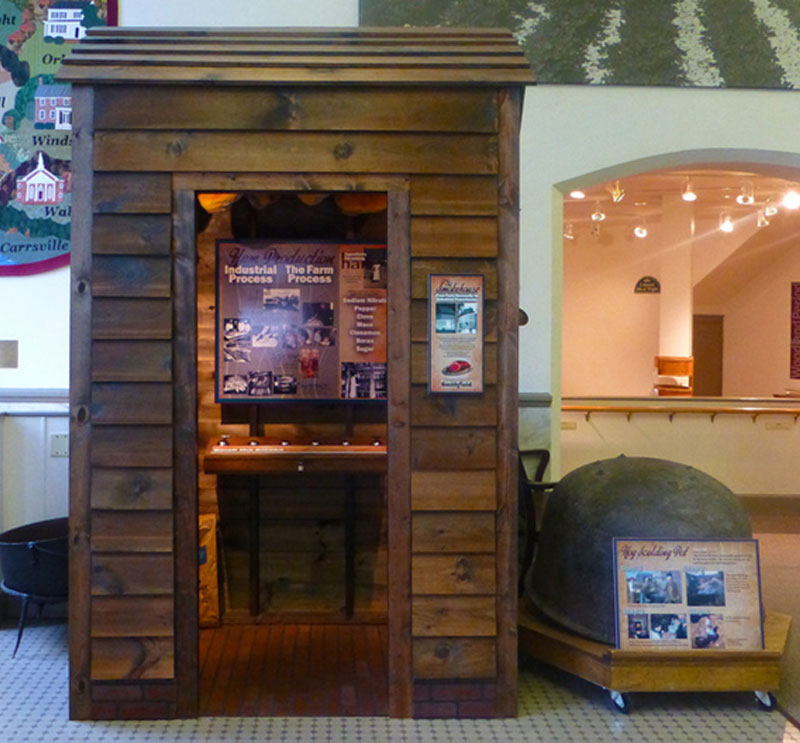 The Smokehouse Exhibit at the Isle of Wight County Museum